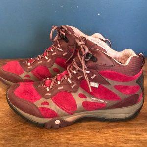 Merrell Waterproof Hiking Boots Pink Women's 8